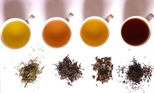 Four types of tea